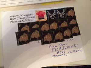 I'm trying to use up my stamps. Forever stamps are the best..but I have a lot of stamps that are never-ending.